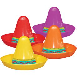 Mini sombrero di plastica - Colori assortiti