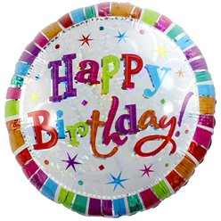 Palloncino in foil Happy Birthday splendente - 45 cm