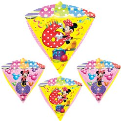 Palloncino in foil 6 anni a diamante Minni - 61 cm