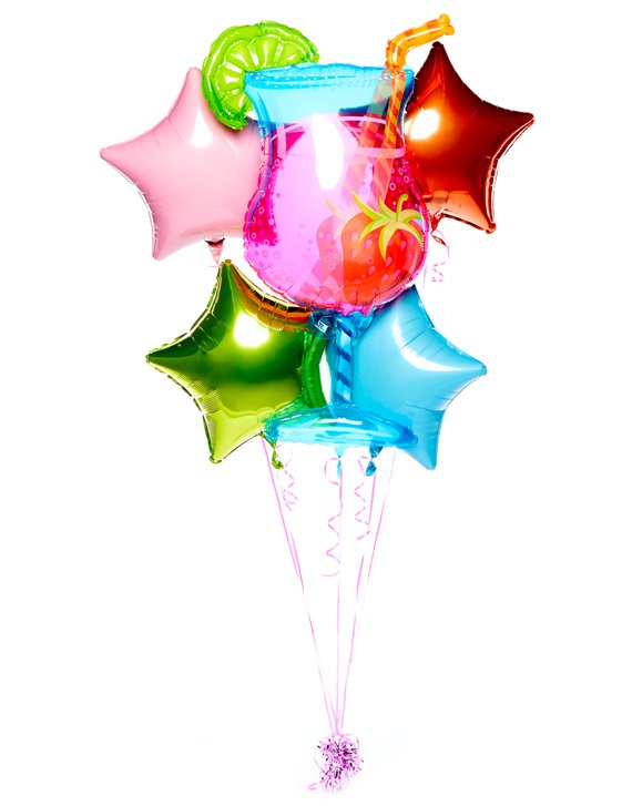Bouquet di palloncini in foil Cocktail tropicale