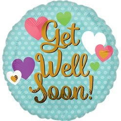"Palloncino in foil per guargione ""Get well soon"" - 45 cm"