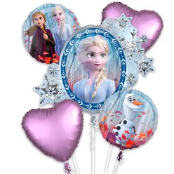 Bouquet di palloncini Frozen 2 Disney - Assortiti in foil
