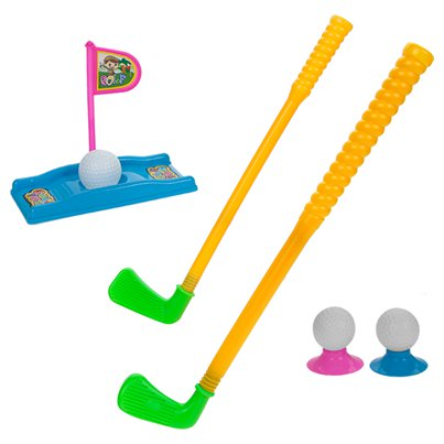 Set per mini golf con mazze e tee