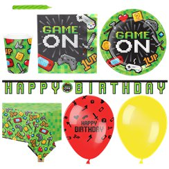 Set festa Game on - Confezione deluxe per 16