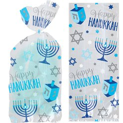 Sacchetto di cellophane Hanukkah - 23 cm