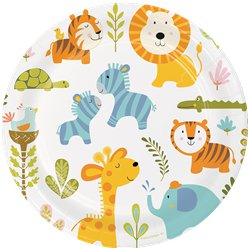 Piatti Happi Jungle - Piatti di carta per feste 23 cm