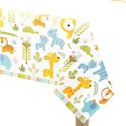 Happi Jungle - Tovaglia di plastica 1,4 m x 2,6 m