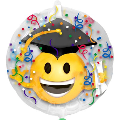 Palloncino con emoji di laurea all'interno - 60 cm