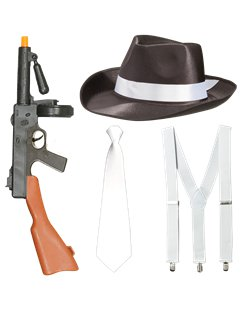 Set accessori per costume da gangster
