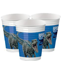 Bicchieri di plastica Jurassic World - 200 ml