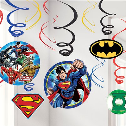 Justice League - Addobbi a spirale