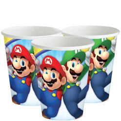 Bicchieri di carta Super Mario - 266 ml