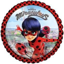 Palloncino in foil Ladybug Miraculous - 45 cm