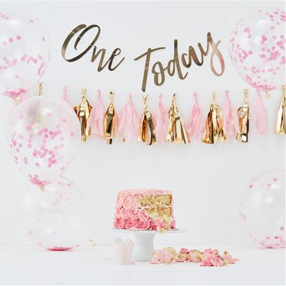 Pick & Mix pastello - Kit per primo compleanno rosa