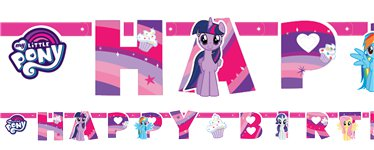 Festone di compleanno My Little Pony - 1,3 m