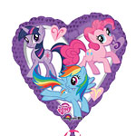 Palloncino in foil a cuore My Little Pony - 45 cm