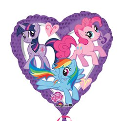 My Little Pony - Palloncino in foil a cuore 45 cm