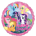 Palloncino di compleanno in foil My Little Pony - 45 cm