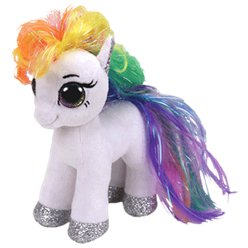 Pupazzetto di Peluche My Little Pony arcobaleno TY