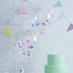 Palloncini in lattice con coriandoli Pick & mix - 30 cm