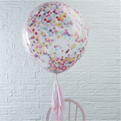 Palloncini in lattice giganti con coriandoli colorati Pick & mix - 91 cm