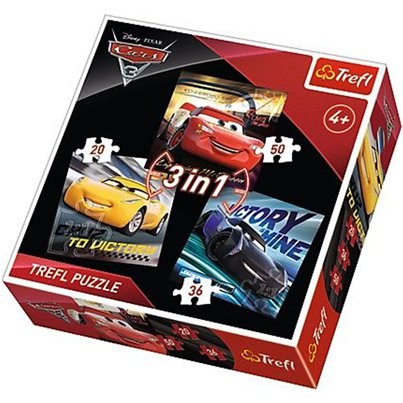 Set puzzle 3 in 1 Cars Disney
