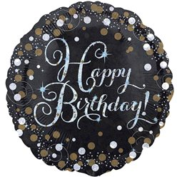 Palloncino in foil Happy Birthday brillante oro - 45 cm