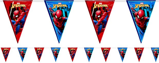Festone con bandierine Spider Man Team-up - 2,3 m