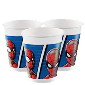 Bicchieri di plastica Spider Man Team-up - 200 ml