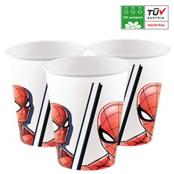 Spider Man - Bicchieri di carta biodegradabili 200 ml