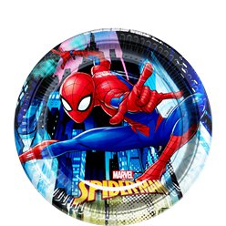 Piatti di carta da dessert Spider Man Team-up - 19 cm
