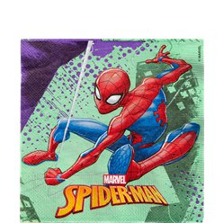 Tovaglioli di carta Spider Man Team-up - 33 cm