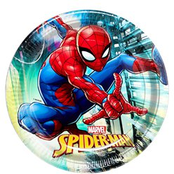 Piatti di carta Spider Man Team-up - 23 cm