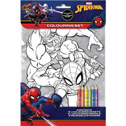 Set per colorare Spider Man