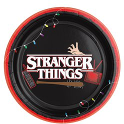Piatti di carta Stranger Things - 23 cm