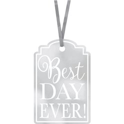 "Cartellini ""Best Day Ever"" argento"
