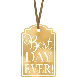 "Cartellini ""Best Day Ever"" oro"