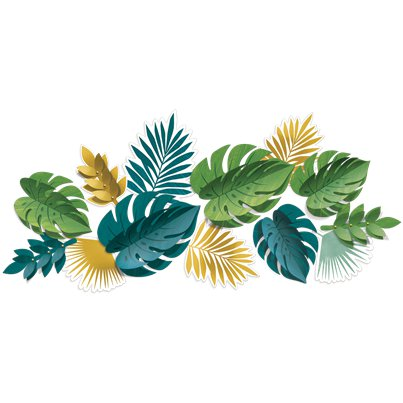 Foglie tropicali decorative