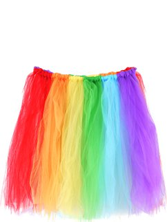 Gonna di tulle arcobaleno