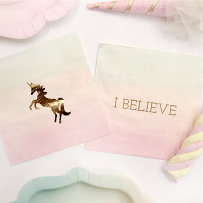 Tovaglioli di carta We love unicorn - 25 cm