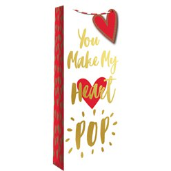 "Sacchetto da regalo per bottiglia ""You Make My Heart Pop"""