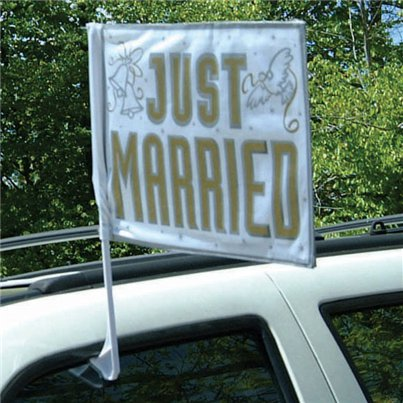 Bandiera per auto Just Married
