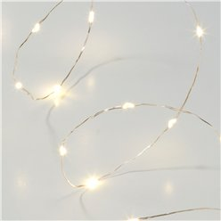 Luci a LED oro linea Party Porcelain - 3 m