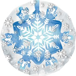 Palloncino in foil con fiocco di neve all'interno - 61 cm