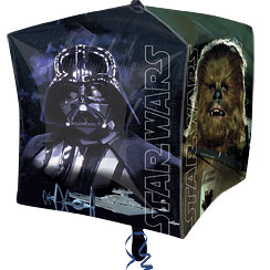 Palloncino a cubo in foil Star Wars - 61 cm