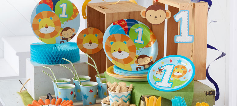 Articoli Per Feste Primo Compleanno One Is Fun Bambino Party City It